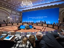 Участники заседания совместной оперативной группы по сирийскому урегулированию на международной встрече в Астане
