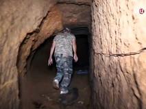Подземные тоннели боевиков в Сирии