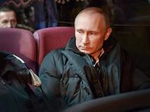 Владимир Путин в автобусе