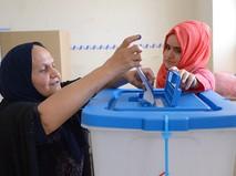 Голосование на избирательном участке в городе Эрбиль во время референдума о независимости Иракского Курдистана