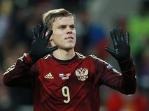 Игрок сборной России Александр Кокорин