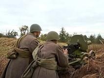 Реконструкцию боевых действии времен 1941 года