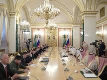 Переговоры президента России Владимира Путина и короля Саудовской Аравиии Салмана ибн Абдул-Азиза Аль Сауда