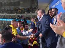 Владимир Путин на торжественной церемонии открытия XIX Всемирного фестиваля молодёжи и студентов