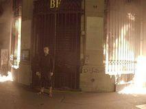 Поджог входной группы Банка Франции