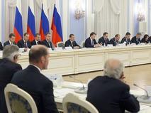 Премьер-министр Дмитрий Медведев проводит заседание Консультативного совета по иностранным инвестициям