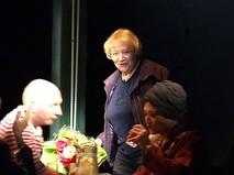 Актриса Елена Санаева в театре