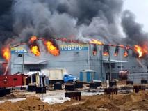 """Пожар на рынке """"Атлант"""" в Ростове на Дону"""