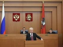 Сергей Собянин выступил перед депутатами Мосгордумы с отчётом о работе мэрии