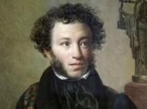 Репродукция портрета Александра Пушкина, написанного художником Орестом Кипренским в 1827 году