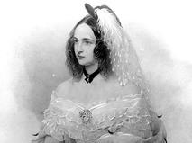 Портрет Натальи Гончаровой, жены Александра Пушкина, 1844 год. Художник В.И. Гау