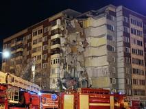 Обрушение жилого здания в Ижевске