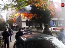 Пожар в общежитии в Сочи