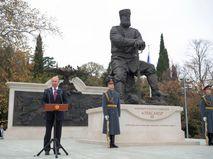 18 ноября 2017. Президент России Владимир Путин на церемонии открытия памятника Александру III в Ялте