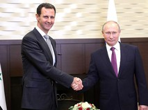 Президент России Владимир Путин с Президентом Сирии Башаром Асадом