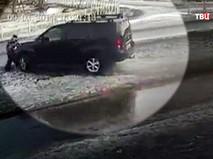 Наезд автомобиля Владимира Бельских на ребенка в Приозерске