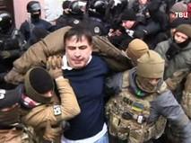 Бойцы СБУ задерживают Михаила Саакашвили
