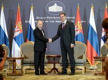 Владимир Путин и председатель правительства Сербии Александр Вучича