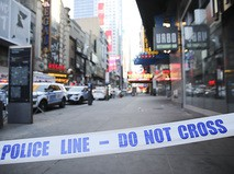 На месте взрыва в Нью-Йорке