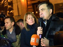 Михаил Саакашвили отвечает на вопросы журналистов