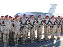 Военнослужащие армии России на авиабазе Хмеймим в Сирии