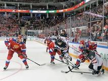 Матч между сборными России и Канады по хоккею