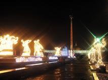 Новогодняя иллюминация на Поклонной горе