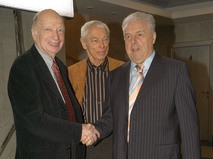 Михаил Танич с композиторами Оскаром Фельцманом и Александром Зацепиным