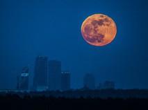 Луна над московским небом