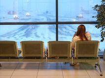"""Зал ожидания в аэропорту """"Шереметьево"""""""