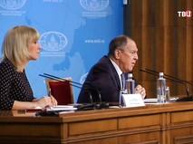 Сергей Лавров и Мария Захарова