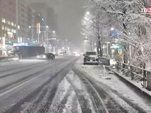 Снегопад в Японии