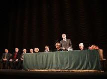 Юрий Соломин на сборе труппы перед началом нового сезона Малого театра