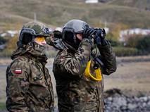 Военнослужащие сил НАТО,польского контингента