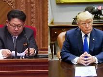 Глава КНДР Ким Чен Ын и президент США Дональд Трамп