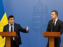 Министры иностранных дел Украины и Венгрии Павел Климкин и Петер Сийярто