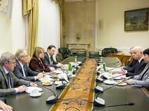 Встреча председателя ЦИК России с главой наблюдателей от СНГ на выборах Президента России