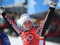 Российский спортсмен Сергей Ридзик, завоевавший бронзовую медаль в дисциплине ски-кросс на соревнованиях по фристайлу среди мужчин на XXIII зимних Олимпийских играх