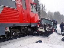 Последствия столкновения поезда и автомобиля