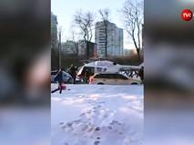 Вертолет МЧС на месте ДТП