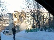 Обрушение дома в Мурманске