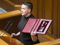 Внефракционный народный депутат Украины Надежда Савченко