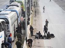 Восточная Гута, Сирия. Выход боевиков