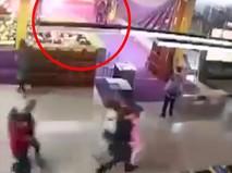 "Момент начала пожара в ТЦ ""Зимняя вишня"" в Кемерове"