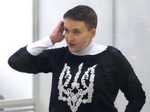 Надежда Савченко на заседании в Шевченковском районном суде в Киеве