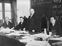 Владимир Ильич Ленин в президиуме I конгресса Коминтерна