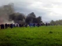 Последствия падения самолета в Алжире