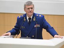 Генеральный прокурор Юрий Чайка выступает на заседании Совета Федерации