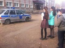 Полиция на месте происшествия в Стерлитамаке