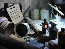 Химическая лаборатория боевиков по изготовлению отравляющих веществ